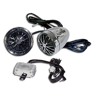 NEW-Pyle-400w-Amp-Motorcycle-MP3-Speaker-Stereo-System-Mountable-Audio-Speakers