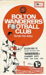 Bolton-Wanderers-v-Cardiff-City-18-Mar-1970-Football-Programme