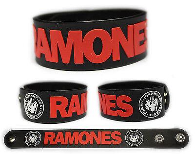 RAMONES Rubber Bracelet Wristband Johnny Dee Dee Joey Tommy