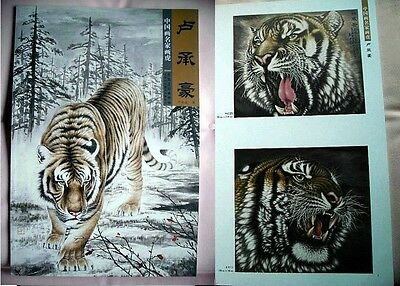 China Tiger Chinese Painting Book Reference for Tattoo Flash sketch Design 40p