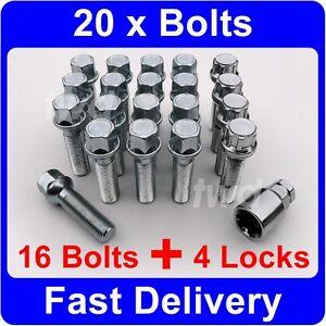 20 x ALLOY WHEEL BOLTS & LOCKS FOR MERCEDES BENZ S CLASS W221 (2006+) NUT [9Q]
