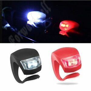 2-Pcs-LED-Flash-Silicone-Bike-Bicycle-Cycling-Head-Front-Rear-Wheel-Light-Lamp