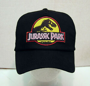 JURASSIC-PARK-Yellow-Logo-Baseball-Cap-Hat-w-Patch