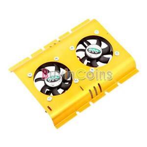 PC-SATA-IDE-3-5-Hard-Disk-Drive-HDD-Cooler-2-Fan-SCUS