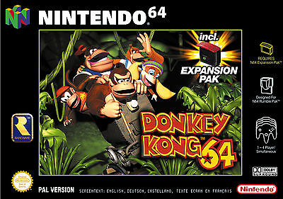 Donkey Kong 64 inclusif expansion pack für Nintendo 64!
