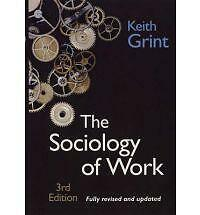 Sociology of Work-ExLibrary