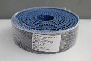 "New Mulhern 3-1313, 3-Ply Blue Rough Top 15.1' Long x 2.5"" Wide Conveyor Belt"