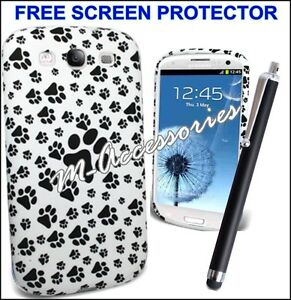FOOTPRINT-PAWS-PRINT-SILICONE-GEL-CLIP-ON-CASE-COVER-SKIN-FOR-MANY-MOBILE-PHONES