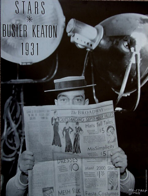 Buster Keaton 1931≈American Silent Film Actor Comedy≈Photo POSTER 24x32 Rare