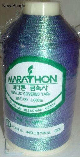 Marathon rayon Embroidery Machine Thread Metallic 1000m Choice of Colours