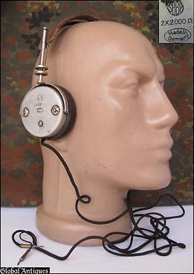 WWII ORIGINAL GERMAN WEHRMACHT RADIO HEADPHONES - SABA