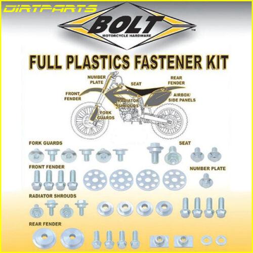 Bolt Fender Plastic Fastener Hardware Kit Honda CR125 CR250 2000-2007