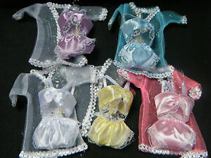 BARBIE-SINDY-DOLL-CLOTHING-LINGERIE-UNDERWEAR-BRA-KNICKERS-GOWN-3-PIECE-SET-UK