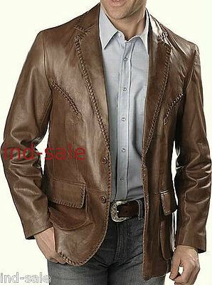 Genuine Leather Custom Made Jacket Blazer Tailor Nice Design OnFlap Embroidered