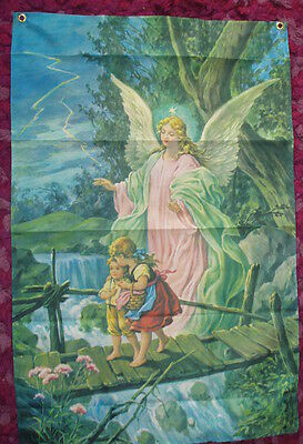Guardian Angel Flag Sunday School Children Bible Church Catholic Childs Room bn
