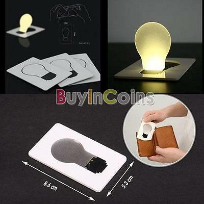 Portable Pocket LED Card Light Lamp Put in Purse Wallet DH