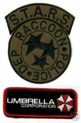 FANCY DRESS HALLOWEEN ZOMBIE COSTUME RESIDENT EVIL RACOON CITY POLICE 2PATCH