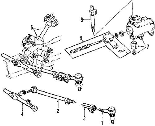 92 D250 Tie Rod Diagram