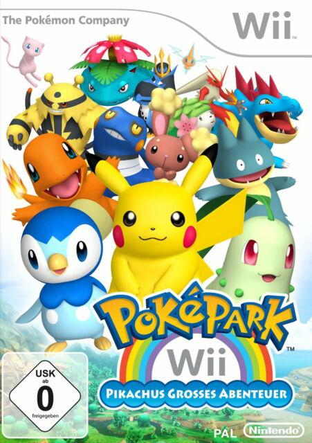 Wii Spiel >PokéPark: Pikachus großes Abenteuer< Neuwertig