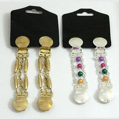 Blusenraffer 2 Paar Ärmelhalter Set C silber gold PORTOFREI Accessoire Kleidung