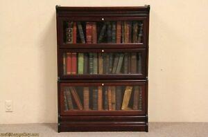 Lawyer-3-Stack-Original-Antique-1900-Bookcase