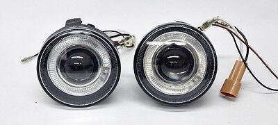 Dodge Dakota Durango 01-04 Halo Angel Eye Projector Fog Lights - Clear