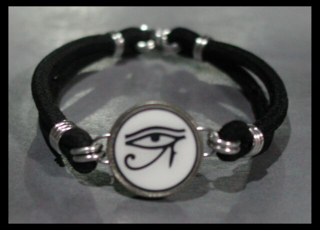 EYE OF HORUS Egypt Dime Stretch Bracelet  - One size fits most - MADE IN USA