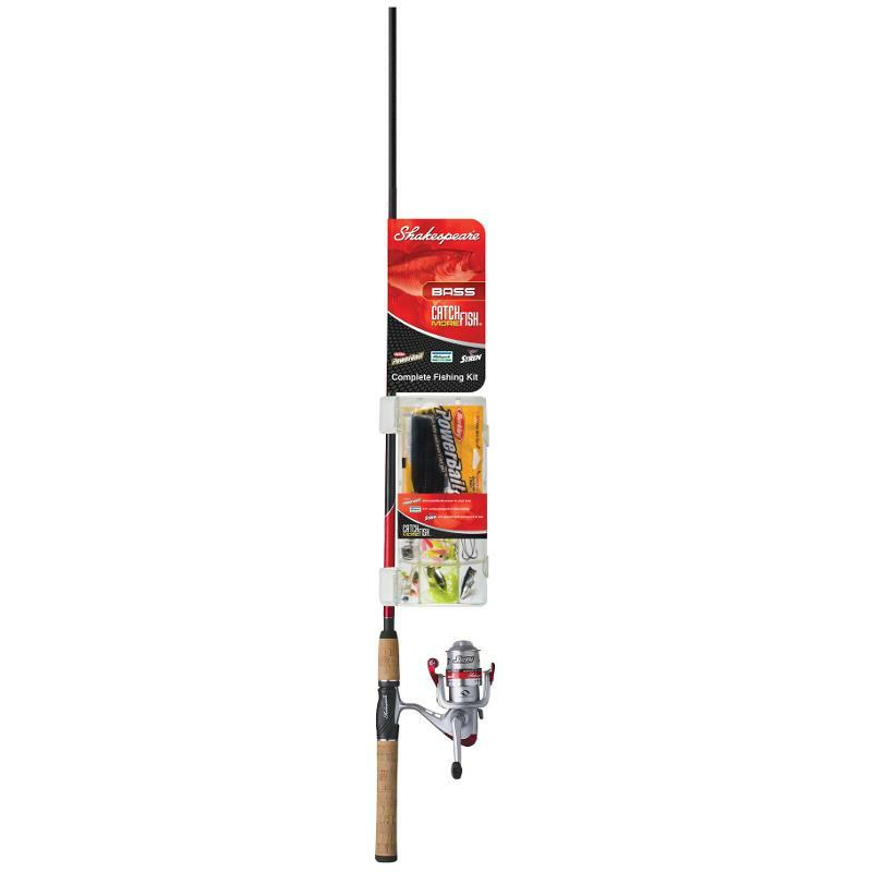 Shakespeare Bass Complete Fishing Kit Catch More Fish 1187275