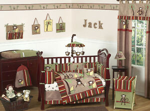 Cheap Unique Monkey Jungle Themed Baby Boy Crib Bedding ...