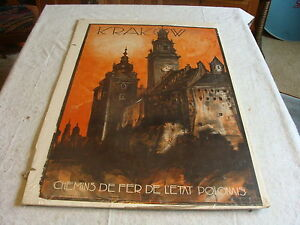 Krakow Chemin de Fer Poland vintage train travel poster 24x36