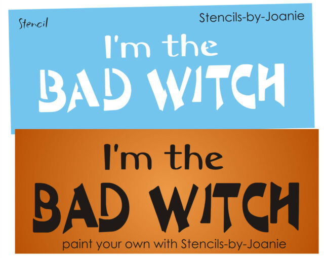 Joanie Halloween Stencil Bad Witch Holiday Seasonal Fall Prim Craft Signs
