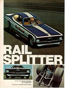 1971 plymouth duster funny car jimmy king don marshall 2 pg article ad ebay. Black Bedroom Furniture Sets. Home Design Ideas