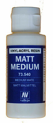 VAL73540 Vallejo Medium - Matte 60ml vinyl acrylic resin pigment base non toxic