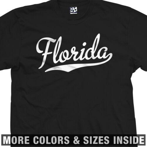 Florida Script T-Shirt FL Baseball Sports Style w Tail All Sizes /& Colors
