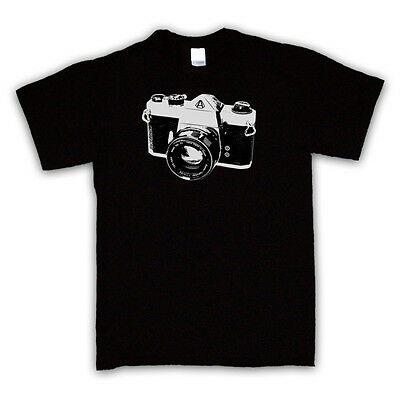 VINTAGE SLR CAMERA PRINT PHOTOGRAPHY FASHION T SHIRT ALL COLOURS AND SIZES