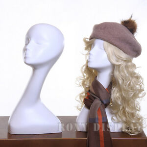 Female mannequin head bust wig hat jewelry display mz no for Lady mannequin jewelry holder