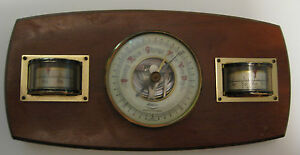 VINTAGE-FISHER-BAROMETER-THERMOMETER-HYGROMETER-SCIENTIFIC-INSTRUMENT-W-GERMAN