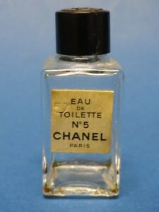 vintage chanel no 5 mini eau de toilette sample echantillon flacon. Black Bedroom Furniture Sets. Home Design Ideas