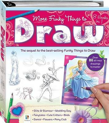 """""""AS NEW"""" More Funky Things to Draw (Binder), Hinkler Books PTY Ltd, Book"""