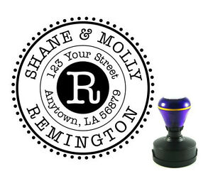Self Inking custom name return address rubber stamps gift r135