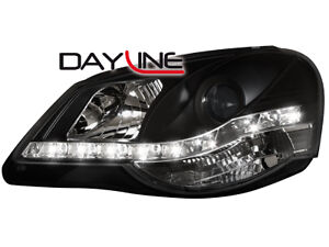 VW-Polo-9N3-DRL-LED-Headlights-Dayline-black
