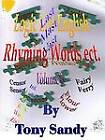 Logic List English - Rhyming Words Ect. - Volume 1 by Tony Sandy (Paperback, 2009)