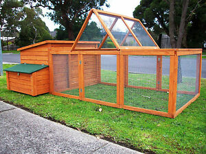 CHICKEN-COOP-RUN-LARGE-CHOOK-SHED-HEN-HOUSE-LOOK