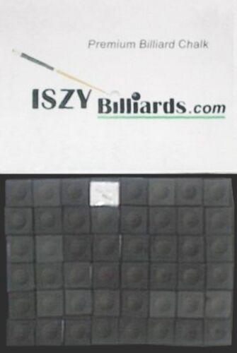 Premium Pool Table Billiard Cue Chalk 12 Pieces Black