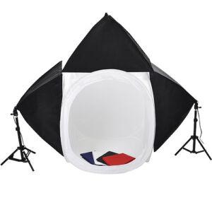 Upgraded-Photo-Studio-32-034-Light-Tent-Softbox-Lighting-Kit-Backdrops-3x-65w-Bulbs