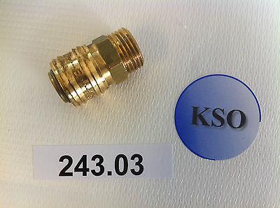 """Kupplungsdose Druckluftkupplung NW 7,2 1/2"""" IG & AG Messing Pneumatik Druckluft"""