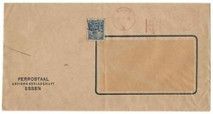 1938 Germany Essen Estonia Commercial Cover Envelope FERROSTAAL 20M Stamp