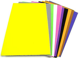 A4-Craft-Foam-Sheets-Sticky-Back-Self-Adhesive-Peel-Off-Coloured-Funky-Foam-x10