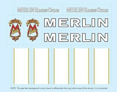 Merlin (UK) Bicycle Decals-Transfers-Stickers #1
