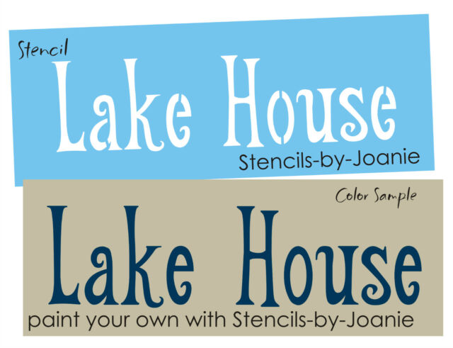 STENCIL Lake House Cabin Retreat Beach Seaside Ocean Cottage Home Art Signs